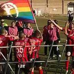 Soccer Team Raises Rainbow Flag