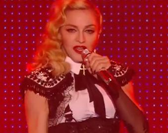 Madonna Performs Israeli-DJ Remix