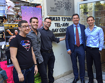 Randy Berry Visits Tel Aviv's LGBT Center