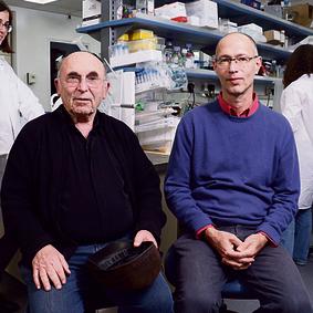 Israeli Doctors who develop a medicine for HIV: Raffi Mayer Prof. Abraham Loyter in Ness Tziona