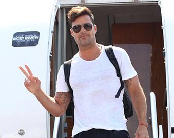 Ricky Martin Landed in Israel!